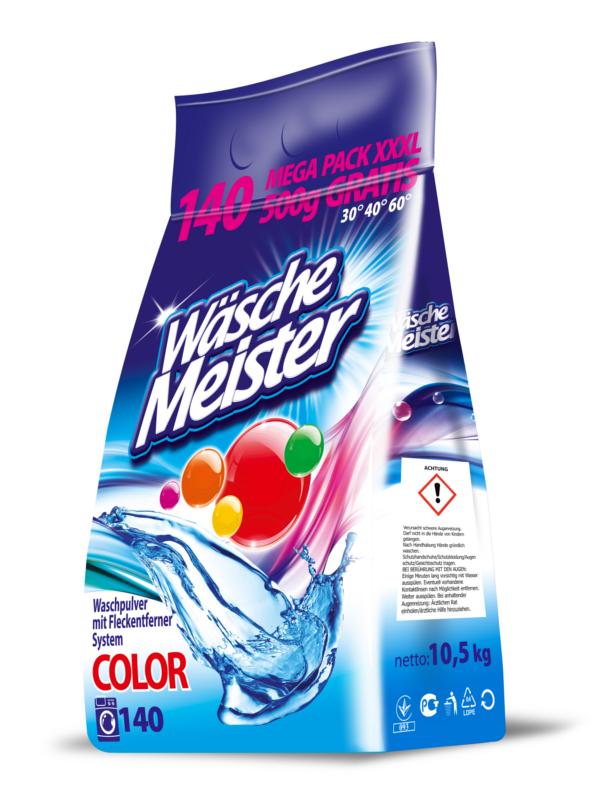 Washing powder WäscheMeister Colour 10,5 kg foil
