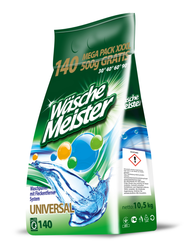 Washing powder WäscheMeister Universal 10,5 kg foil