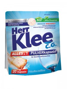 Herr Klee C.G. Alles in 1 powder capsules for a dishwasher 20 pieces