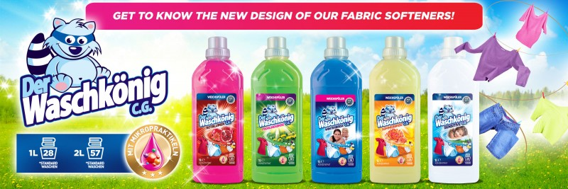 New design of Waschkonig fabric softeners!