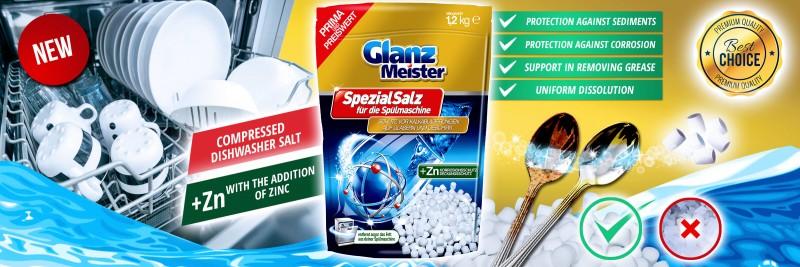 GlanzMeister compressed dishwasher salt