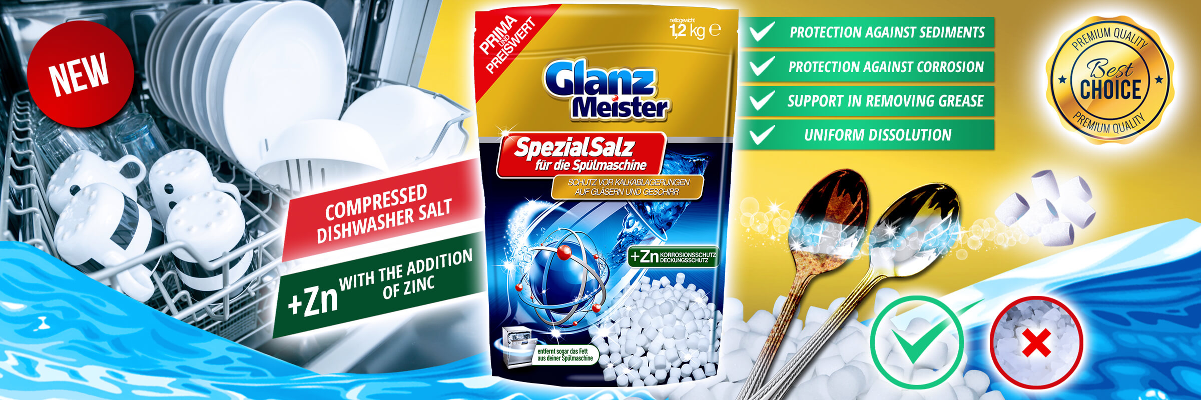 GlanzMeister compressed dishwasher salt