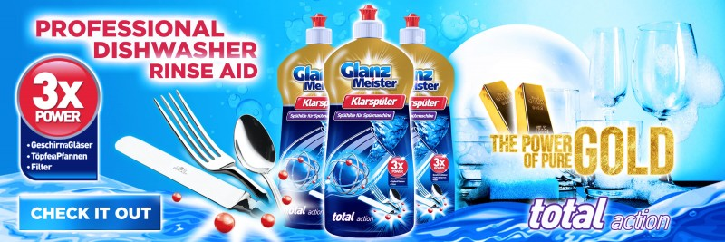 Professional GlanzMeister dishwasher rinse aid