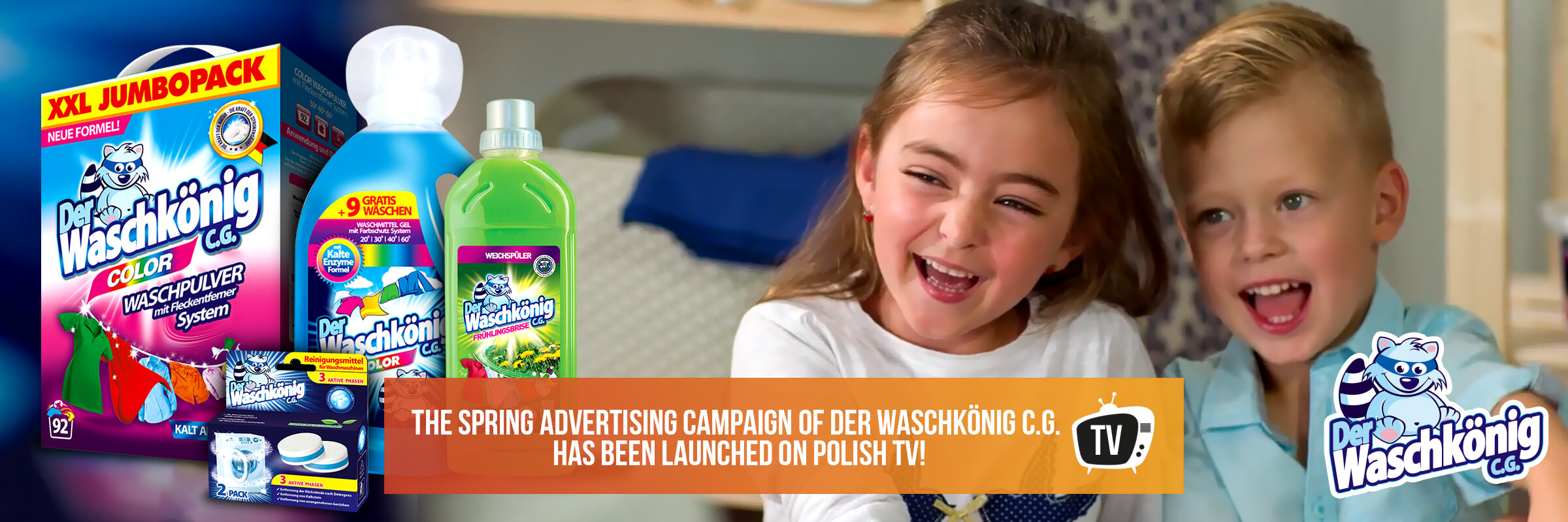 The spring advertising campaign of Der Waschkönig C.G. has been launched on Polish TV!