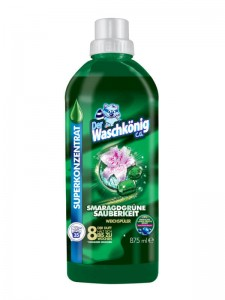 Waschkonig Smaragdgrune Sauberkeit highly concentrated fabric conditioner 875 ml