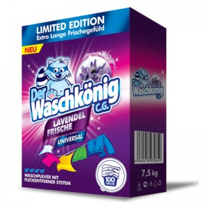 Washing powder Der Waschkönig C.G. Lavendel Frische Universal 7,5 kg