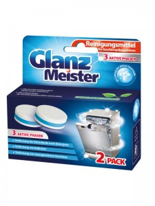 Dishwasher cleaner in tablets GlanzMeister 2 pieces