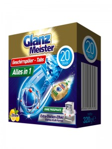 GlanzMeister dishwasher tablets 20 pieces